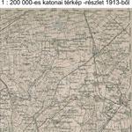 Katonai térképrészlet 1913-ból