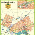 Mezőkovácsháza belterületi térképe