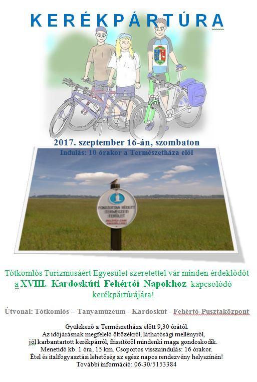 Kerékpártúra Kardoskútra