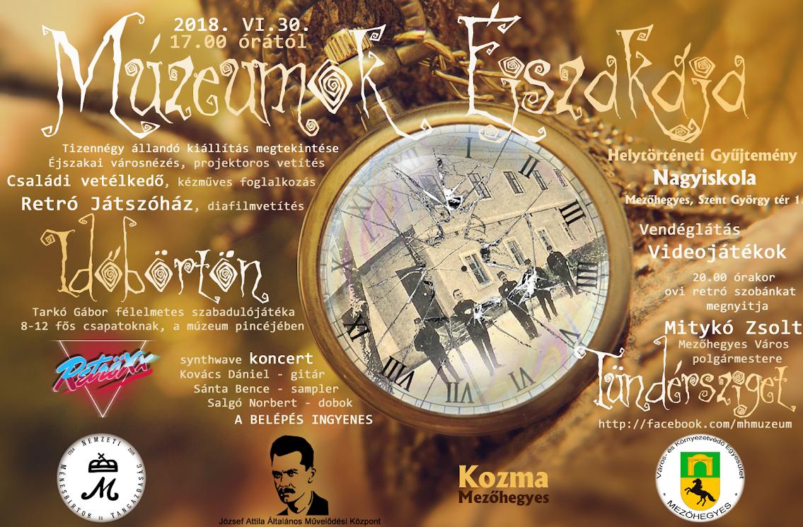 Múzeumok Éjszakája 2018_plakát