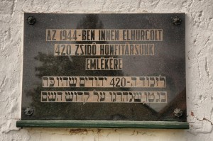 Szent István Otthonház Holocaust emléktáblája 2
